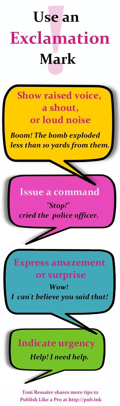 how to use punctuation exclamation mark