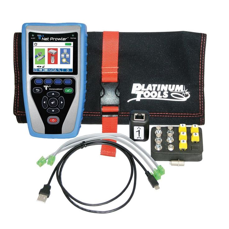 Electrical Wire Gauge Measuring Tool Digital Manifold: Image Of Net Prowler Network And POE Tester