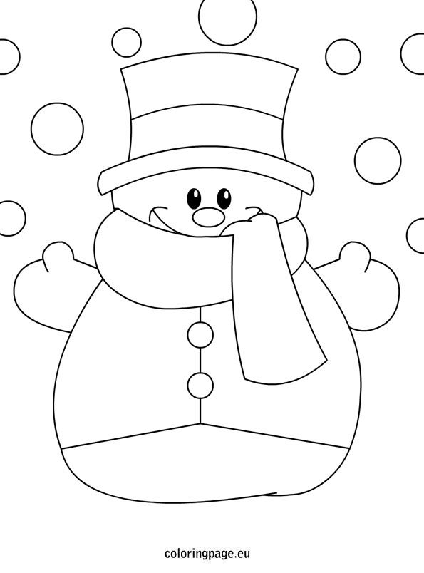 Winter coloring page – Snowman