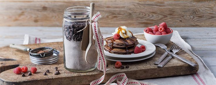 Double Choc Pancakes for an unforgettable breaky in bed.