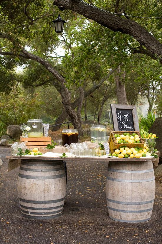 15 Whiskey Barrel Wedding Ideas - The Wedding Chicks