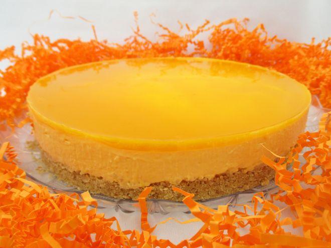 Cheesecake de mango sin horno (con y sin Thermomix)                                                                                                                                                                                 Más