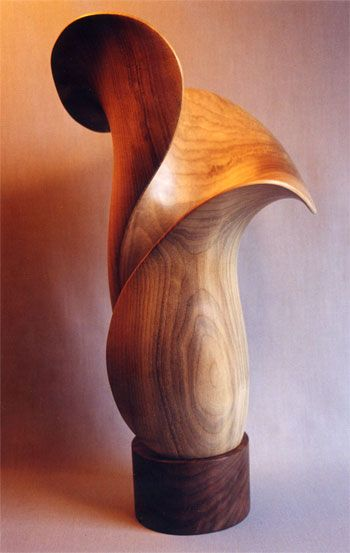 """""""Venus""""  Awesome Wood Artwork  #cncartwork cnc.gallery/  Wood sculpture carved from bay laural by John McAbery. 20"""" x 10"""" x 8"""""""