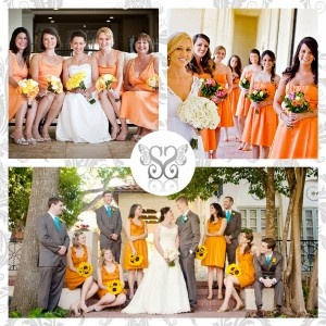 Orange bridesmaids - Damigelle d'onore color arancio