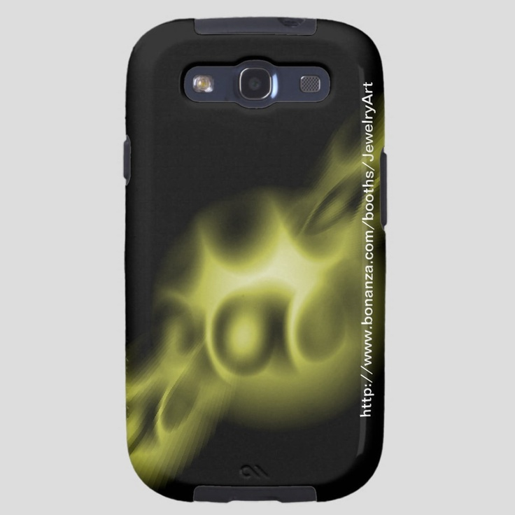 """Samsung Galaxy 3  phone case designed to protect your phone if it falls to the floor and it features original abstract art """"Birth"""" by Douglas J. Moore. http://www.bonanza.com/JewelryArt"""