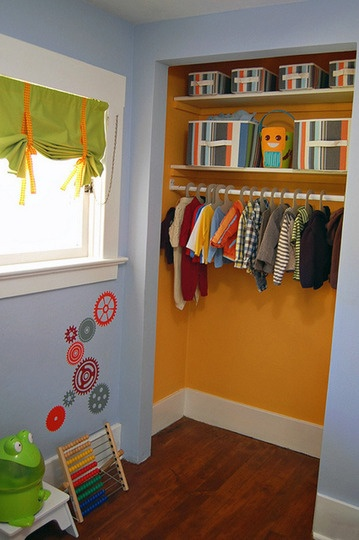 Bright Colored Paint Inside The Toy Closet