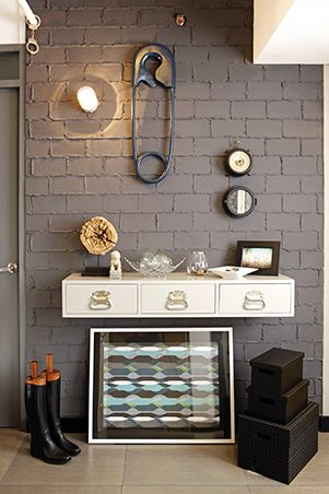 the brick condo furniture. industrial meets quirky in this outofthebox condo unit the brick furniture