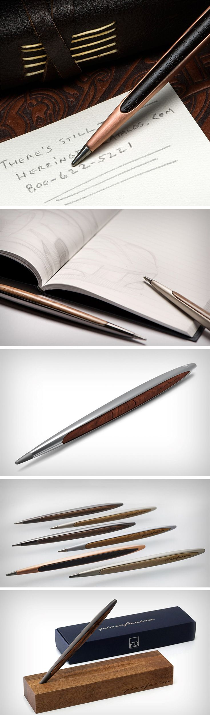 This pen is literally timeless. In the sense that it will run forever, that too without a single drop of ink. Coming from the one company that knows timeless design best, Italy's Pininfarina, the Pininfarina Cambiano pen is a beautiful, sleek writing tool that uses innovative design and material choice to give you a pen that uses a nib made out of a patented metallic alloy called Ethergraf that can create never-ending lines of graphite on paper.
