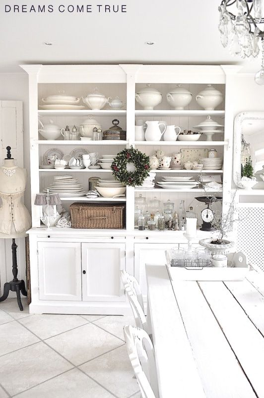 What a great collection of ironstone - in a gorgeous cabinet.