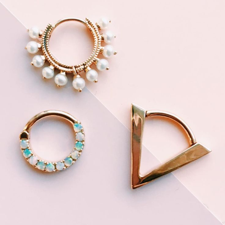 Some of our Maria Tash clickers available on pierced.co!