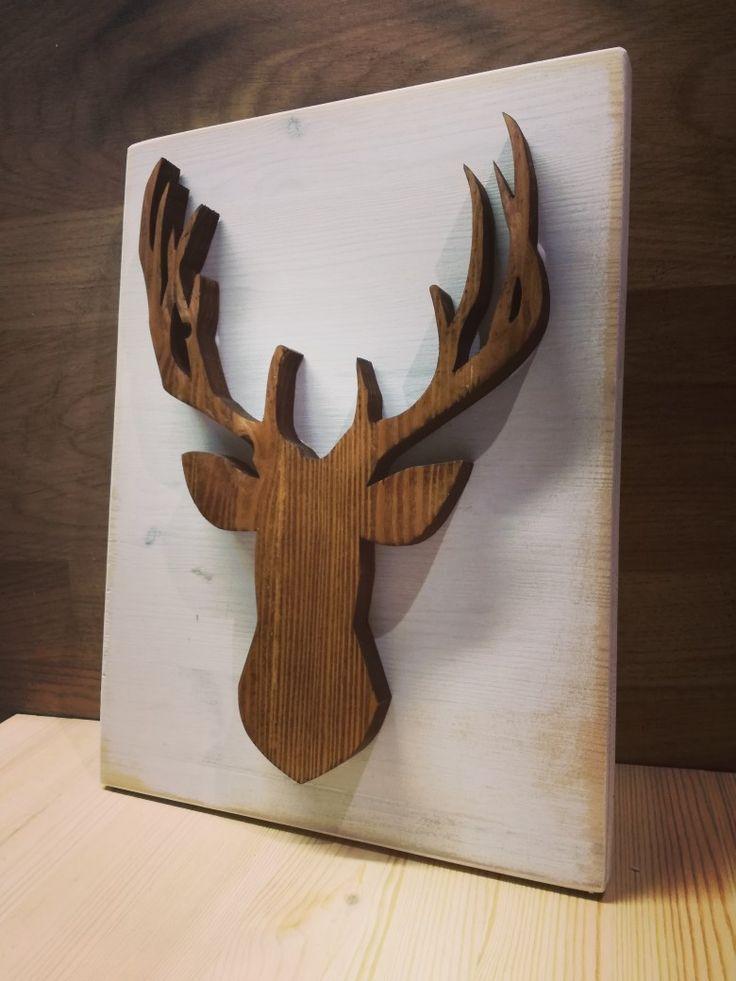 Jeleń #wood #woodwork #las #decor #decorations #Creative #garage #design