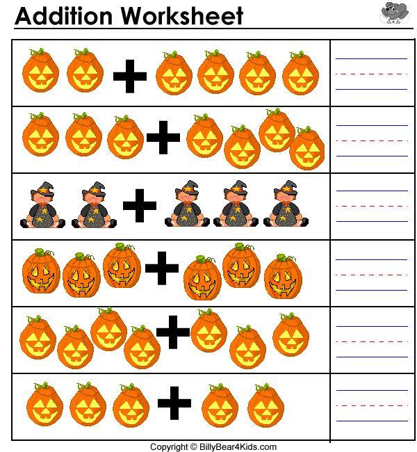 Kindergarten Halloween Math Worksheets Free Worksheets Library ...