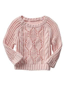 Cable knit crew sweater from Baby Gap #kidsfashion