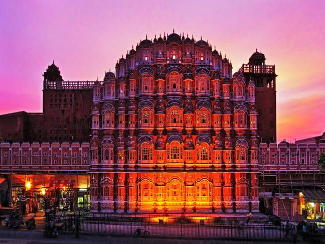 """#HawaMahal - The beautifying exterior of this #""""Castle of Winds"""" may be an exceptional milestone in #Jaipur. Their five-story structures of erinaceous rock put pink dried up with fine trelliswork and intricate overhangs. The #castle has 953 corners and windows inbuilt 1799 by Pratap Singh, the Mahal was an illustrious show off for the #RoyalResidence young ladies."""