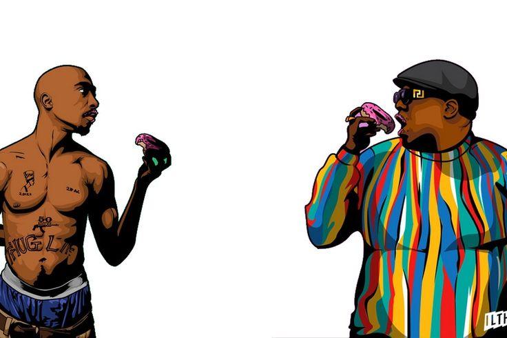 Eazy E Cartoon: Notorious Big And Tupac