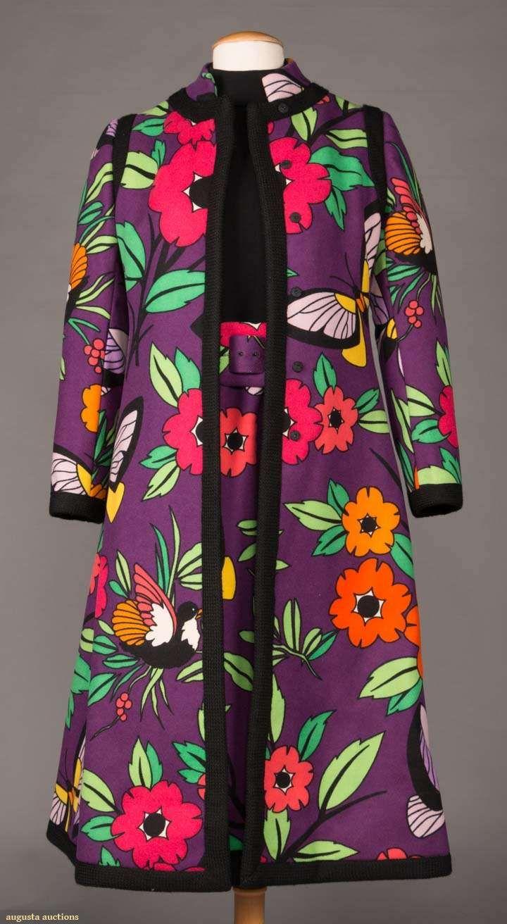 Day Ensemble Wool Donald Brooks Designer American 1970 Textiles Fashion Fashion Clothing And Textile
