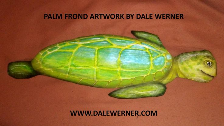 FLORIDA SEA TURTLE make out of a Palm Tree Frond by Artist Dale Werner  See More at: http://dalewerner.com/