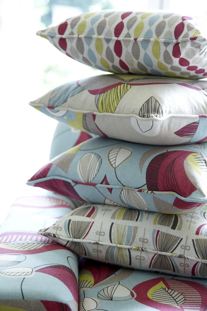 Fabrics from the Festival Collection by Maurice Kain.