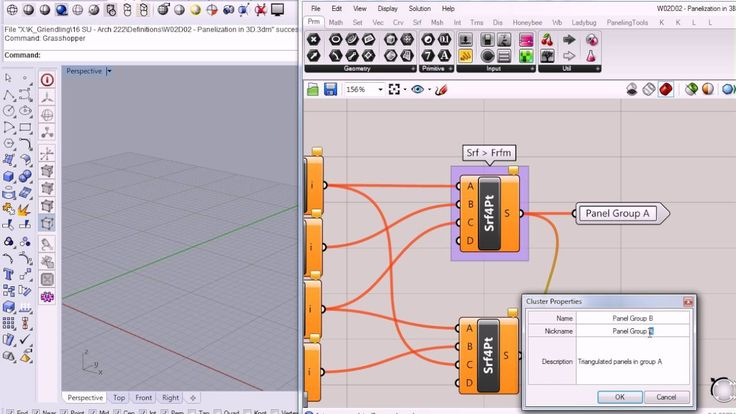 Cluster input/ output- 35 - Grasshopper - Clean Up Messy Definition Part 2 - Custom Package Com...