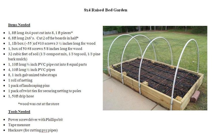 4x8 raised bed garden plans garden pinterest gardens for Raised bed plans
