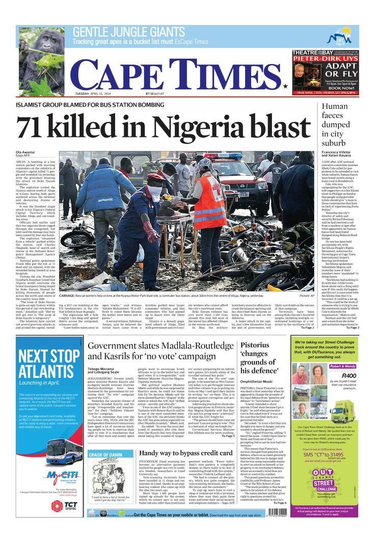News making headlines:  71 killed in Nigeria blast