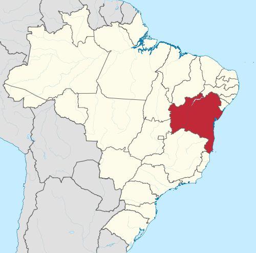 Localização da Bahia no Brasil
