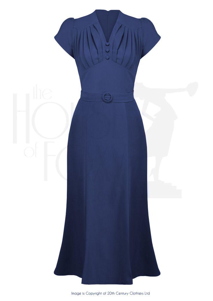 So Foxy Retro Wiggle Dress - Navy