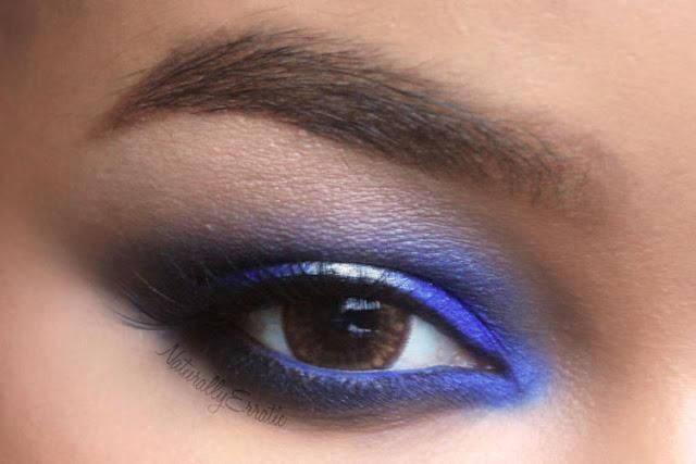Blue + silver smoky eyes. The blue is Sugarpill Velocity. This would be cool for the R2D2 costume.