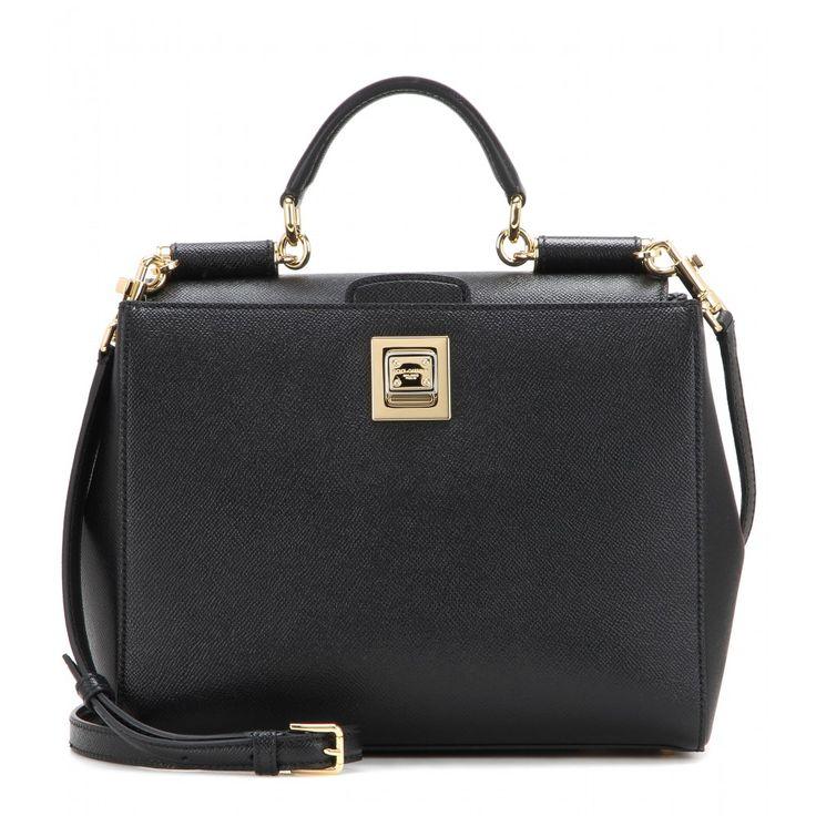 Dolce & Gabbana - Miss Sicily Shopping leather tote - mytheresa.com