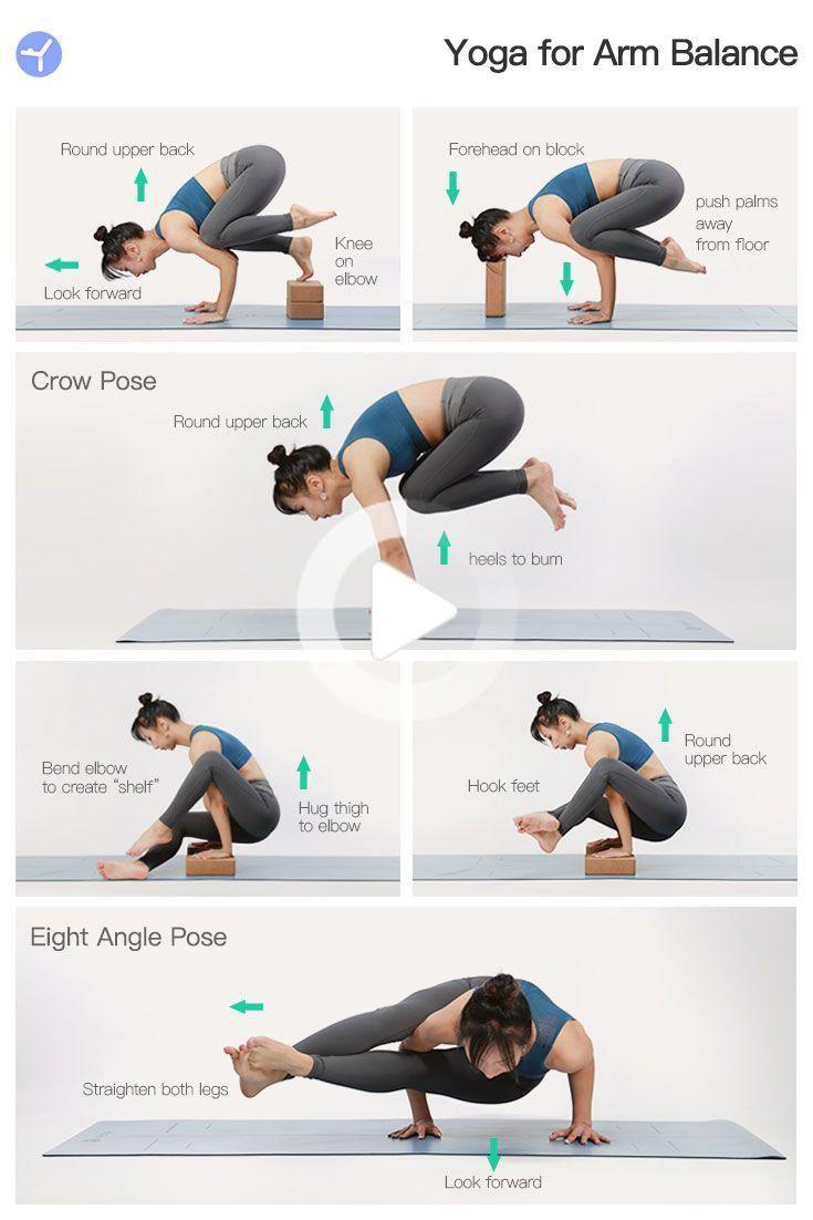 DailyYogaApp Yoga for Arm Balance   Yoga for balance, Yoga poses ...