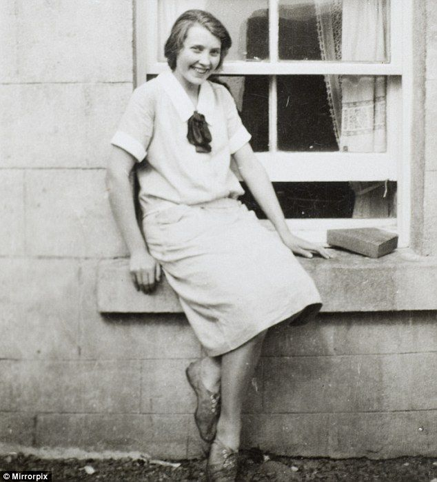 Oh my goodness, family resemblances are strong ! Donald Trump's mother Mary Anne MacLeod, aged 14, sits on the windowsill of a house in the village of Tong on the island of Lewis, off the coast of Scotland. In the 1920s brick houses were slowly replacing traditional 'blackhouses' - built with thatched roofs - in the Hebrides