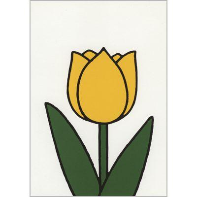 Ansichtkaart Dick Bruna: gele tulp