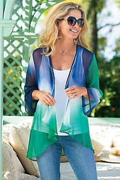 Silk Ombre Cardi from Soft Surroundings