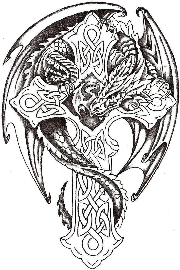 Watercolor Tattoo Dragon Lord Celtic By Thelob On Deviantart Uncategorized Lustige Malvorlagen Aquarell Tattoo Keltische Drachen Tattoos