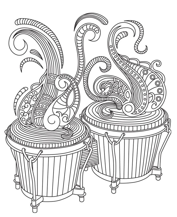 315 best music coloring pages for adults images on pinterest