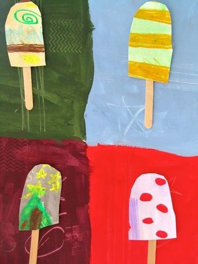 Popsicle art project for our ice cream shop dramatic for Popsicle art projects