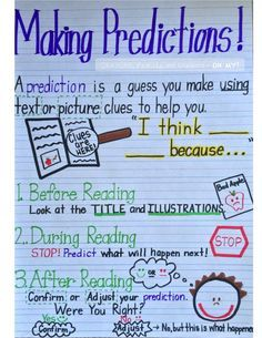 Great anchor chart on Making Predictions!                                                                                                                                                                                 More