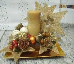 Resultado de imagen para centros de mesa caseros sencillos navideños