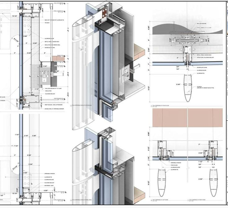 Drawings Construction Details on modern house revit