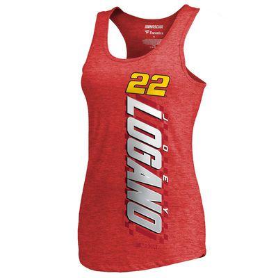Women's Joey Logano Fanatics Branded Red Alternator Tri-Blend Tank Top