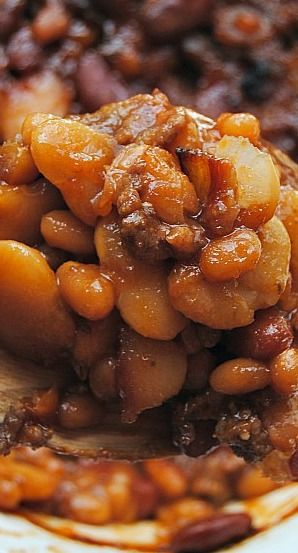 Calico Beans {Or the BEST Baked Beans!}