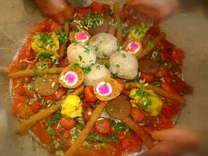 "A ""traemi"" (plate) of the world famous Kashmiri wazwan  #Kashmir #Food #tasty #delicious #divine"