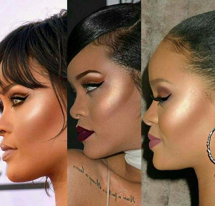 Let's take a moment to appreciate Rihanna's makeup artist #contour