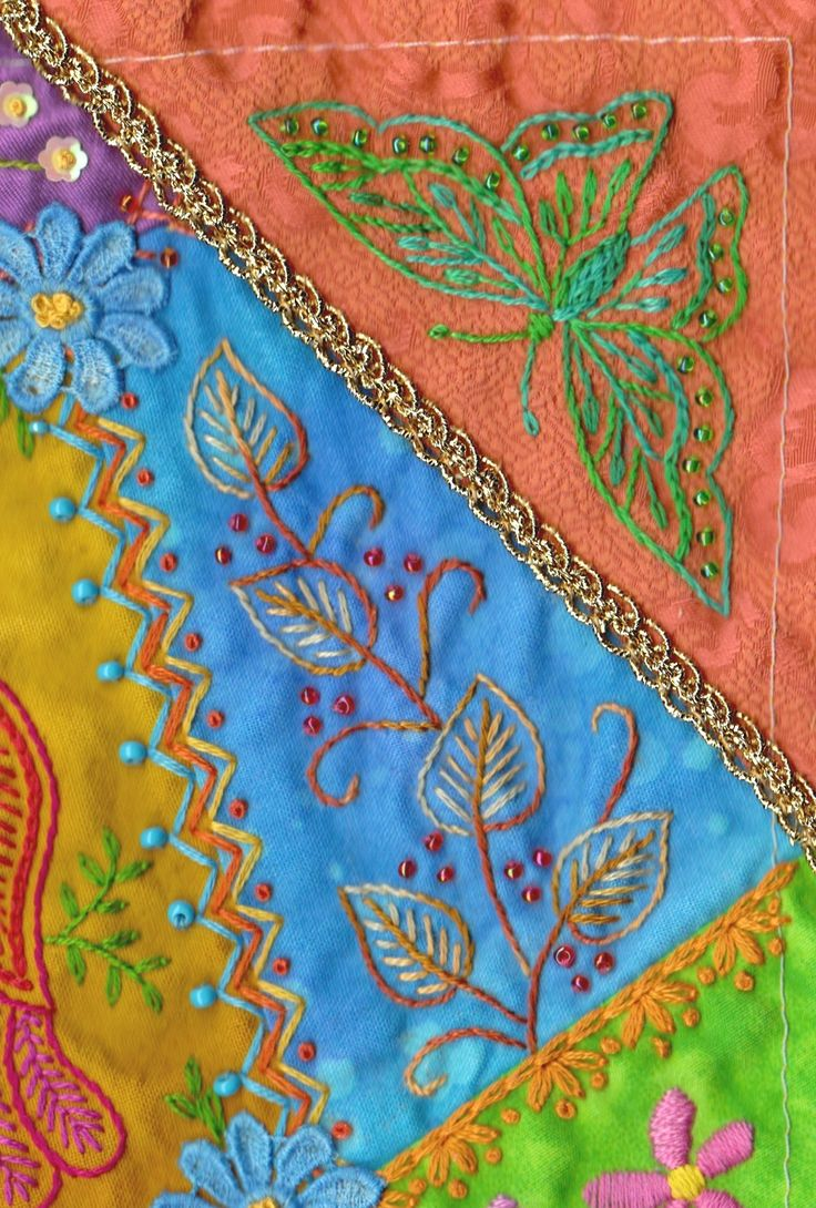 Silver Threads: crazy quilting