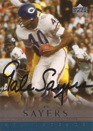 "Rare Chicago Bears Legend Gale Sayers Autographed Hand Signed Football Card. Comes with certificate of authenticity. Sayers, also known as ""The Kansas Comet"", is a former American college and professi"