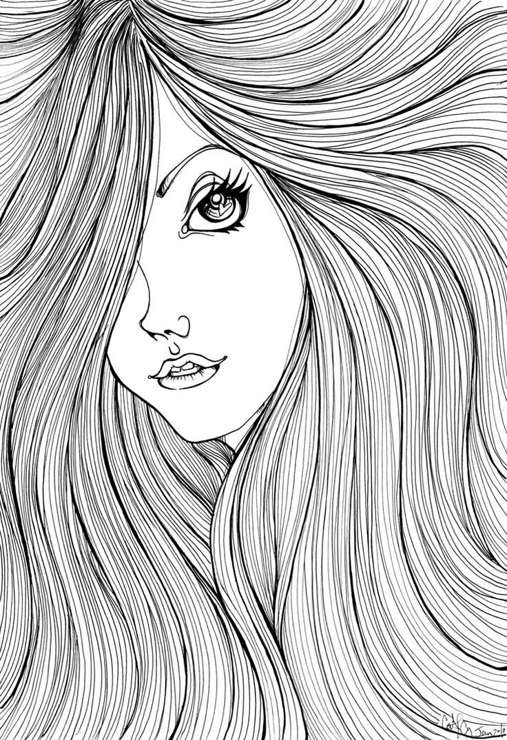 17 best images about cute coloring pages on pinterest Coloring book hair
