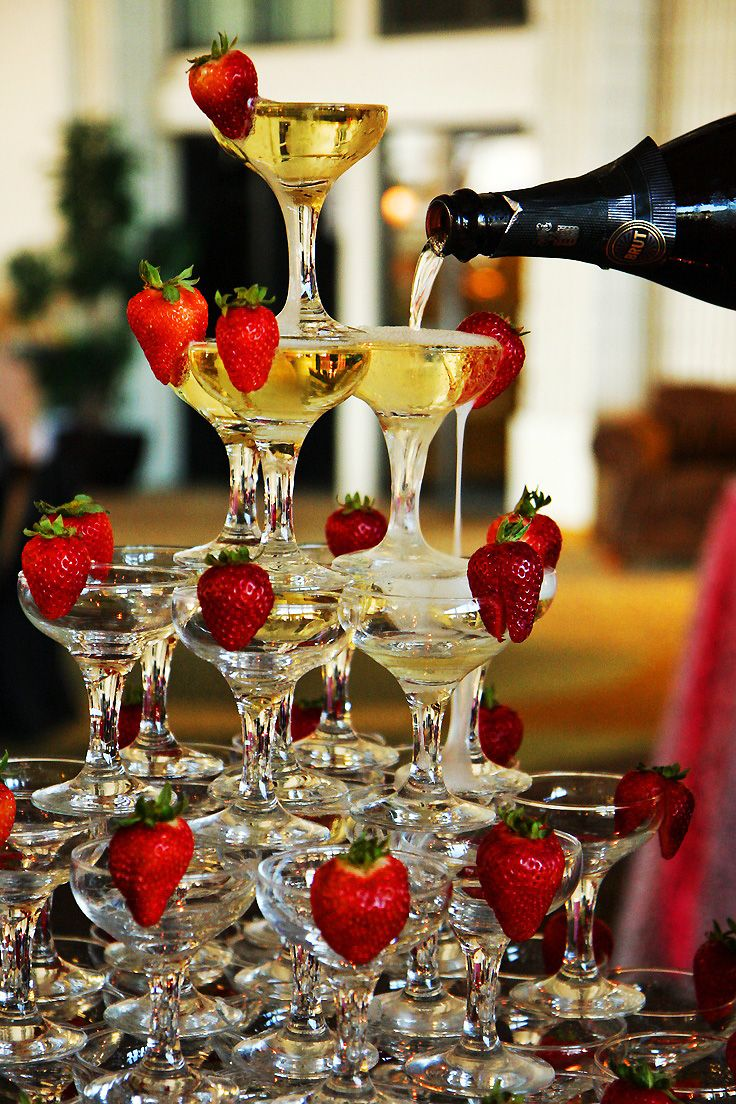 Champagne + Strawberries