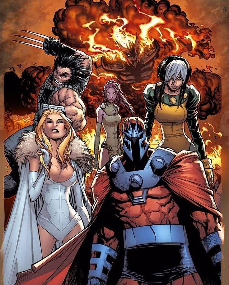 Age of Apocalypse (Volume 2) 2 Cover. #xmenapocalypse #xmen #xmencomics #magneto #wolverine #logan #whitequeen #emmafrost #rogue #marvel #marvelcomics #comics #HumbertoRamos #blink #xmenblink #xmenwolverine