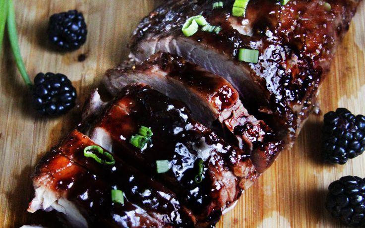 Varkenshaas met Saus van Bramen. Heerlijk mals, zoet, pittig, het ziet er prachtig uit en smaakt fantastisch!