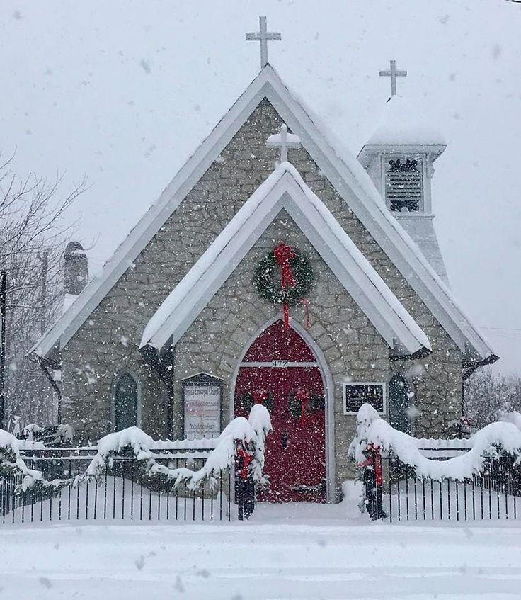 Midnight Christmas Presbyterian Church Durham Nc 2020 Trinity Trinity Episcopal Church, Mt. Airy NC during snow storm   Old